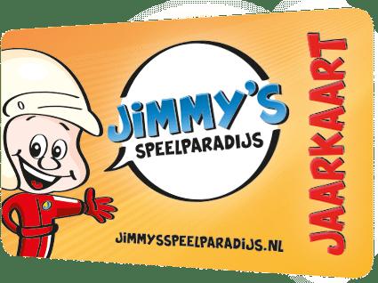 afbeelding van het pasje van Jimmy's Speelparadijs jaarkaart