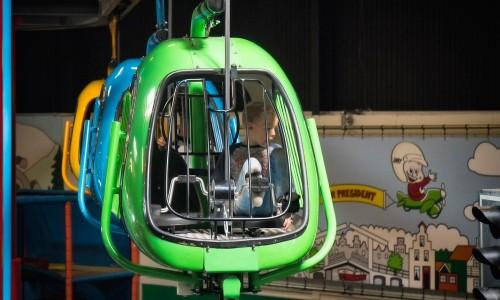 Met de monorail van Jimmy's Speelparadijs ontdek je het hele speelparadijs van boven
