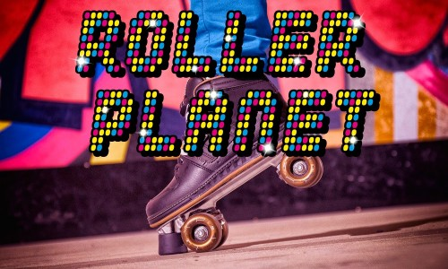 Logo van Roller Planet, om te komen rolschaatsen bij Jimmy's Speelparadijs